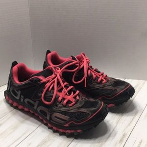 Size 11 Adidas Black And Hot Pink Trainers